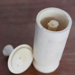 Anti Malaria Drink from Kalimantan, Wooden Cup made of Pasak Bumi