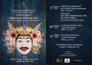 Sutasoma Organizer mempersembahkan Pagelaran Seni Bhineka Tunggal Ika, Dari 5 Agustus hingga 5 September 2017 | Majalah Indonesia | Online Magazines | Indonesia Magazine Online