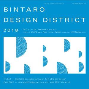 BINTARO DESIGN DISTRICT 2018, PERMEABLE SOCIETY