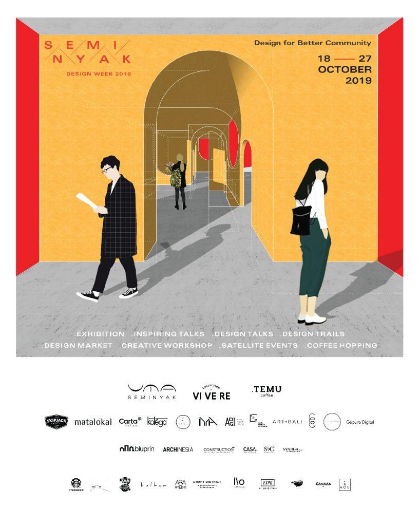 SEMINYAK DESIGN WEEK pada 18 -27 Oktober 2019 di Bali.